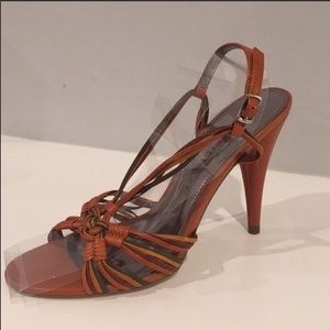 MARC FISHER orange heels size 8